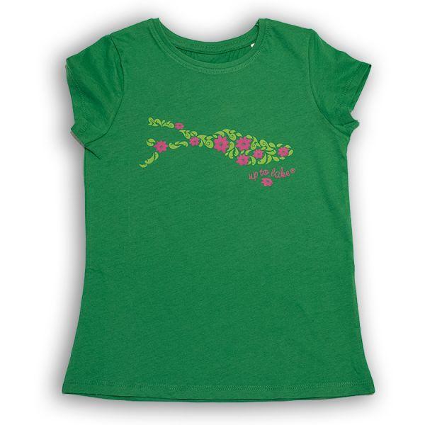 """Bio-T-Shirt mit Blumen """"Flower-Power"""" Bodensee-Design"""