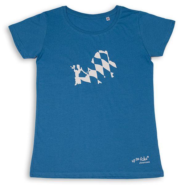 """Bio-T-Shirt """"Chiemsee"""" mit Bayrischem Wappen"""