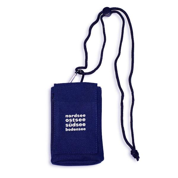 Praktische Handytasche mit Portmonai und verstellbarer Umhängekordel und Gürtelschlaufe