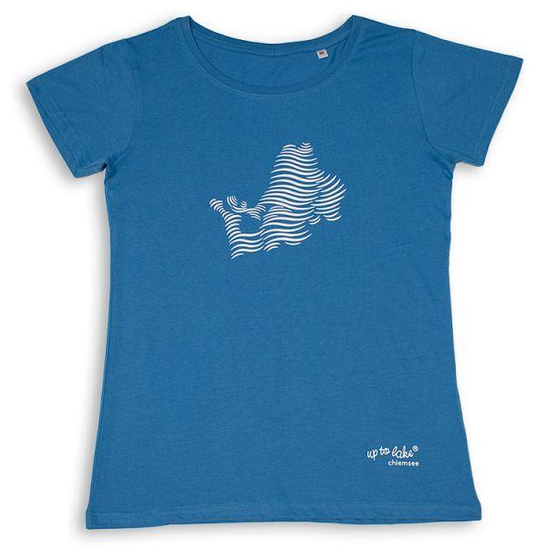 """Bio-T-Shirt mit flotten """"Chiemsee Wellen"""""""