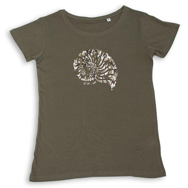 """Bio T-Shirt mit """"Camoflage-Muschel"""" Seedesign"""