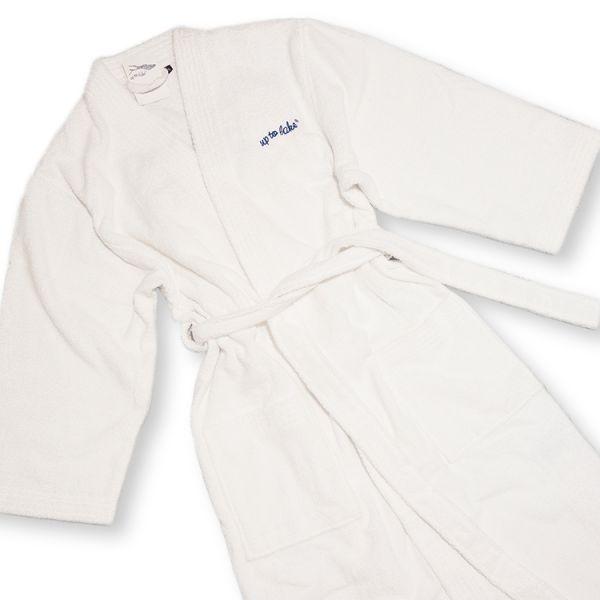 Kimono-Bademantel mit uptolake-Bestickung