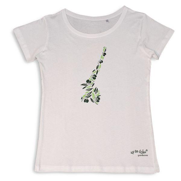 """Schickes Bio T-Shirt """"Gardasee"""" mit mediteranem Print"""